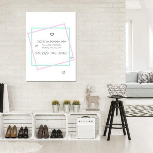 plakat, pastelowe kolory