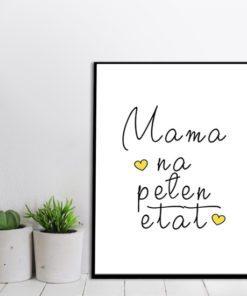 modny plakat - mama na pełen etat