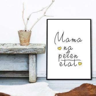 plakat w ramie - mama na pełen etat