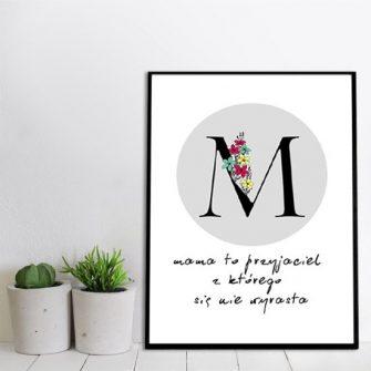 plakat na prezent dla mamy
