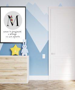Plakat z literą - dla mamy
