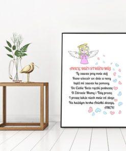 plakat z aniołkiem