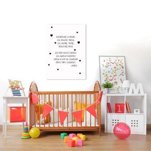 plakat do pokoiku dziecka - modlitwa