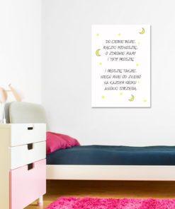 plakat z paciorkiem nad łóżeczko dziecka