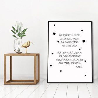 plakat z modlitwą dla dziecka