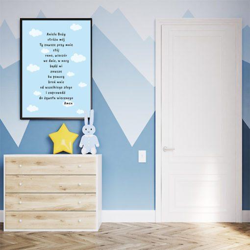 plakat, modlitwa, pokój dziecka