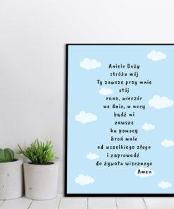 plakat w ramie z paciorkiem do pokoju dziecka