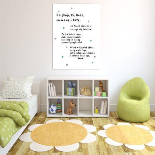 paciorek - plakat na ścianę do pokoiku dziecka
