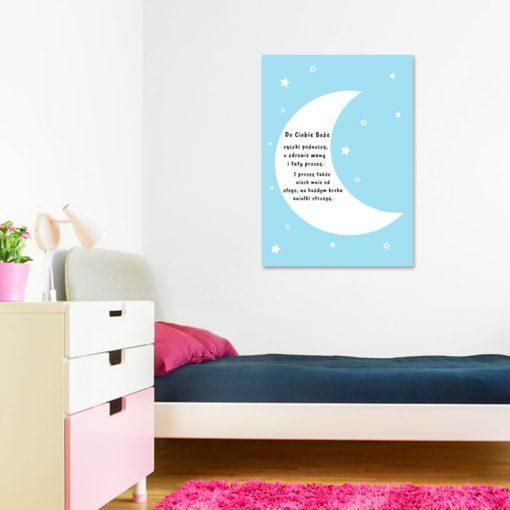 plakat nad łóżeczko - paciorek