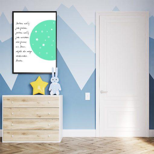 modlitwa dla dziecka - plakat na ścianę