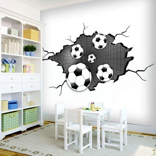 fototapeta z piłkami w ścianie 3d