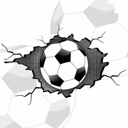 fototapeta 3d - piłka nożna