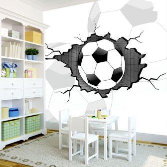 piłka w ścianie 3d fototapeta