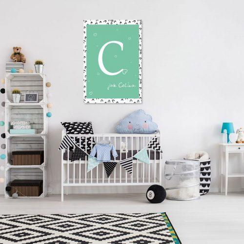 plakat nad łóżeczko do pokoju dziecka