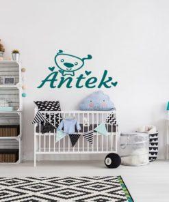 Imię dziecka - naklejka na meble, szyby, ścianę