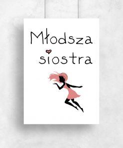 plakat do pokoju dziecka z napisem młodsza siostra