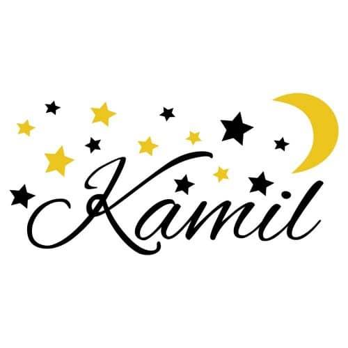 naklejka gwiazdy księżyc imię dziecka