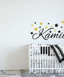 naklejka nad łóżeczko z imieniem dziecka