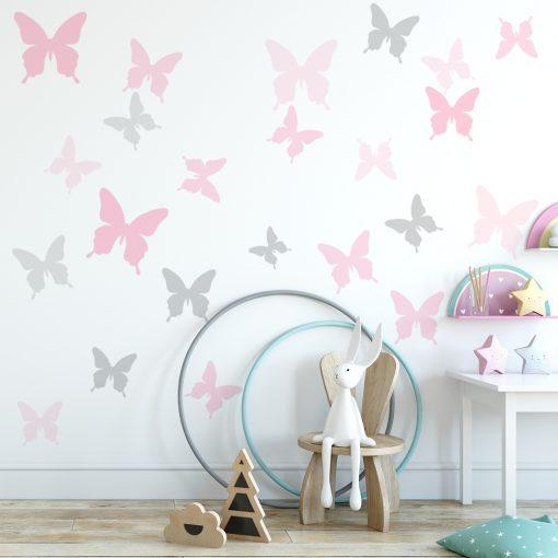 naklejki z motylami