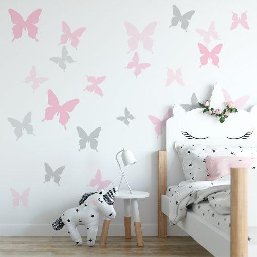naklejka z motylami do pokoju dziewczynki