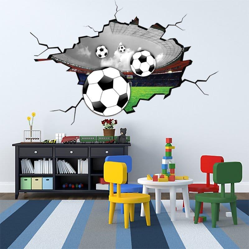 Naklejka 3d Z Piłkami Genialny Akcent Dekoracyjny