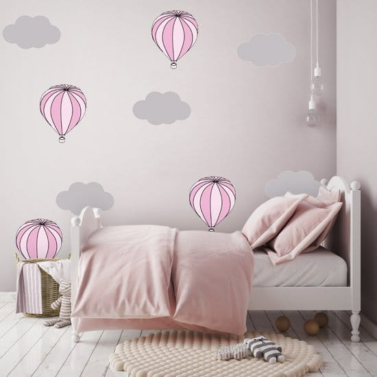 ca463f97189c Naklejka balony i chmurki - piękne pastelowe kolory