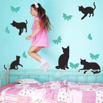naklejki z motywem kotków