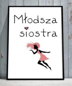 plakat różowy z wróżka