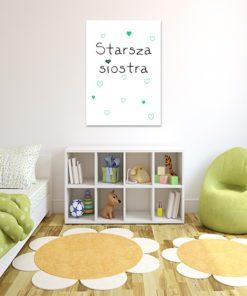 Plakat na ścianę - Starsza siostra - do pokoju rodzeństwa