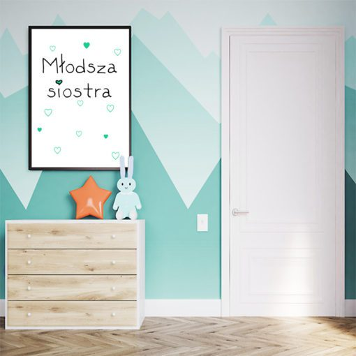 plakat w ramce do pokoju dzieci