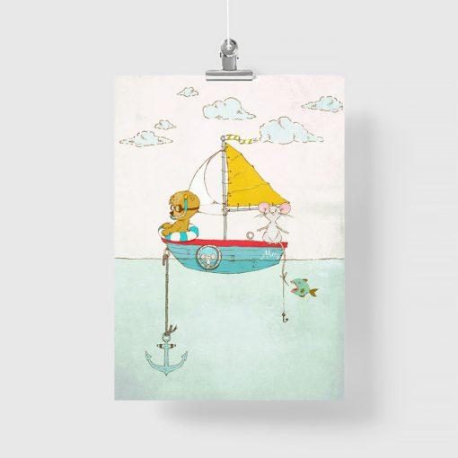 plakat z misiem i myszką do pokoju dziecka