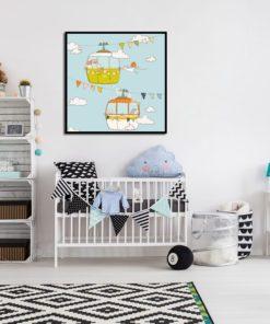 plakat do pokoju dziecka kwadratowy