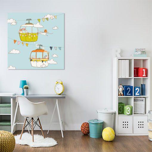 kolorowy plakat z kolejką