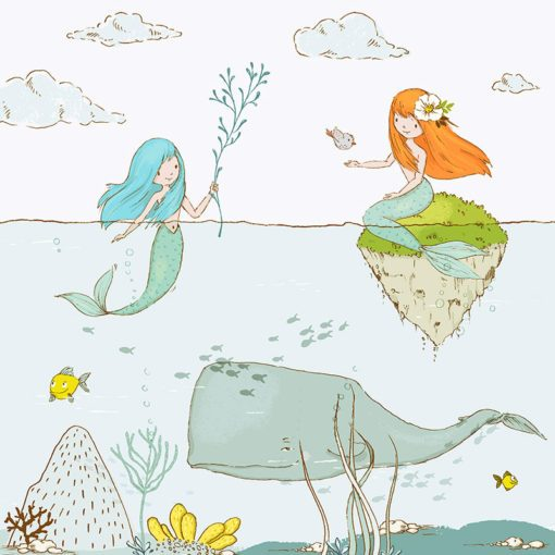 wodna tapeta dla dziecka