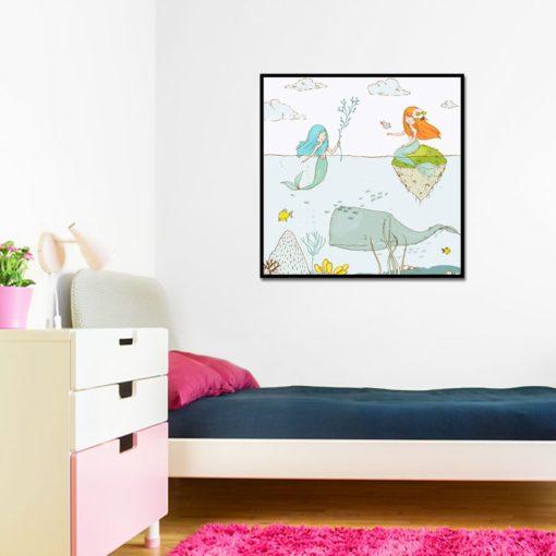 morski plakat kwadratowy