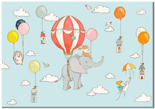 zwierzęta na balonach na niebie
