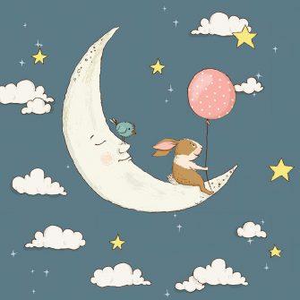 zwierzątka z księżycem białym