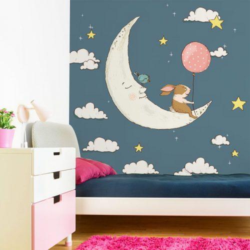 księżyc, który śpi na tapecie