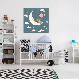 kosmiczny plakat dla dziecka
