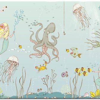 morskie zwierzęta na plakacie