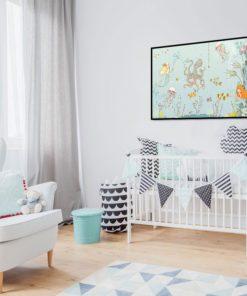 sypialnia dziecięca z motywem wody
