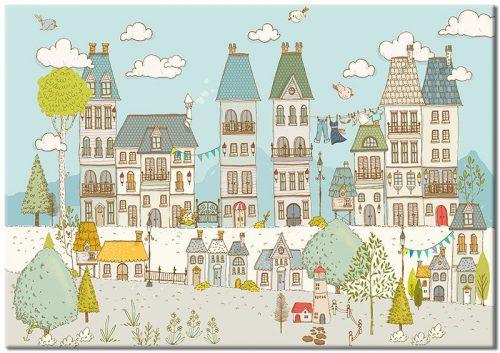 bajkowe miasto na plakacie