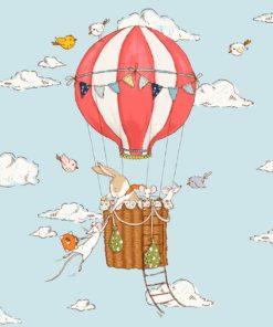 dekoracja ze zwierzętami w balonie