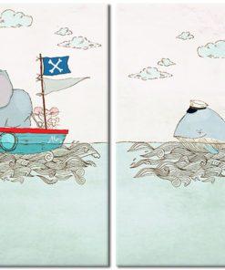 plakat z morskimi zwierzętami