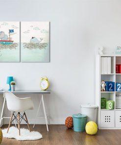 morski plakat z ziwerzętami