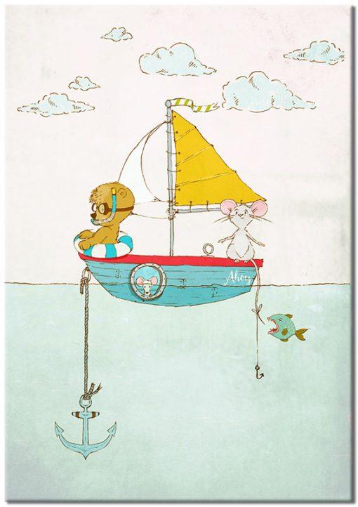 morski plakat ze zwierzętami