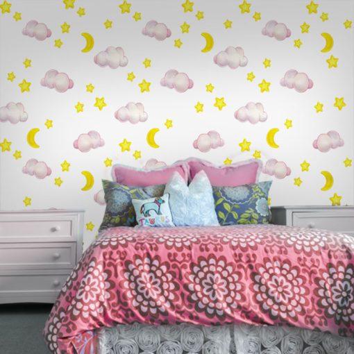 sypialnia dziecięca i fototapeta