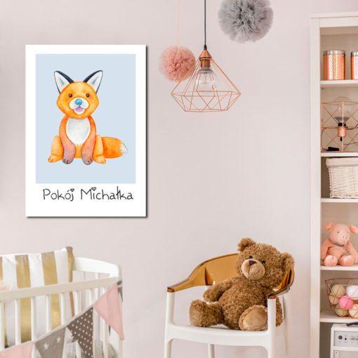pomarańczowy lisek do pokoju chłopca