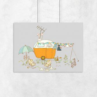 plakat z muszkami do pokoju dziecka