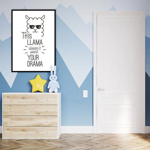 Plakat do dekoracji pokoju dziecięcego